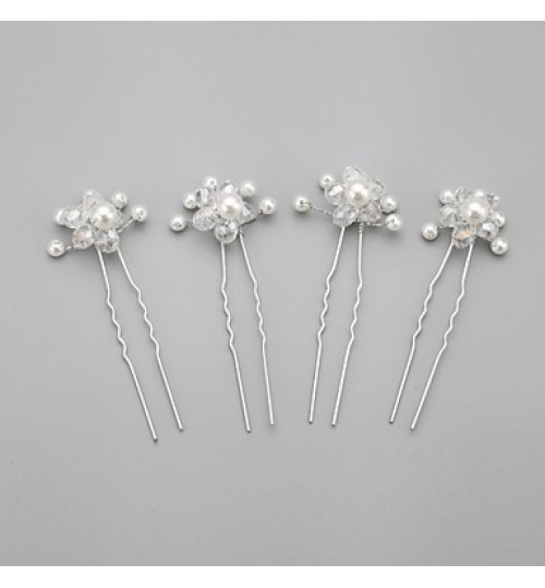 Imitation Pearls Wedding/Special Occasion Hairpins (Set of 4)